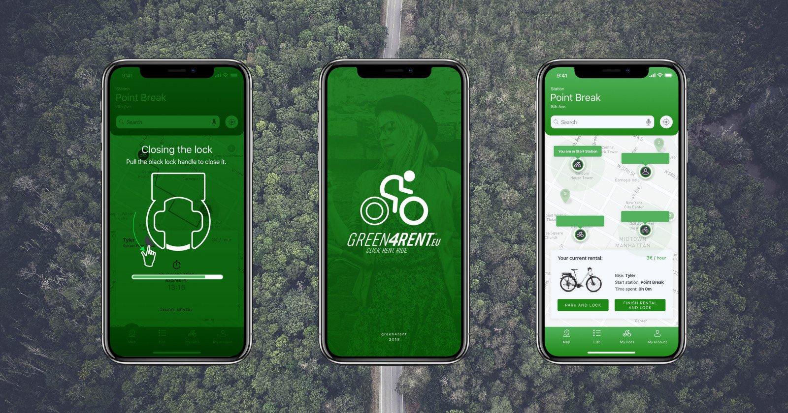 Aplikacja mobilna GREEN4RENT